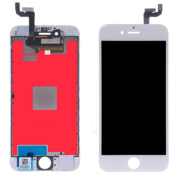 iPhone 6S Skärm Display Med Glas Premium - Vit