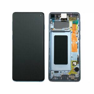 Samsung Galaxy S10 Skärm Amoled Display - Blå
