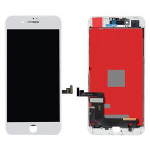 iPhone 8 Plus Skärm Display Med Glas - Vit