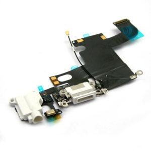 iPhone 6 Laddkontakt Och Hörlursuttag Original - Vit