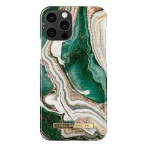 iDeal Of Sweden Case Golden Jade Marble iPhone 12/12 Pro