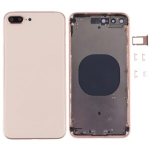 iPhone 8 Plus Baksida Komplett Med Ram - Guld