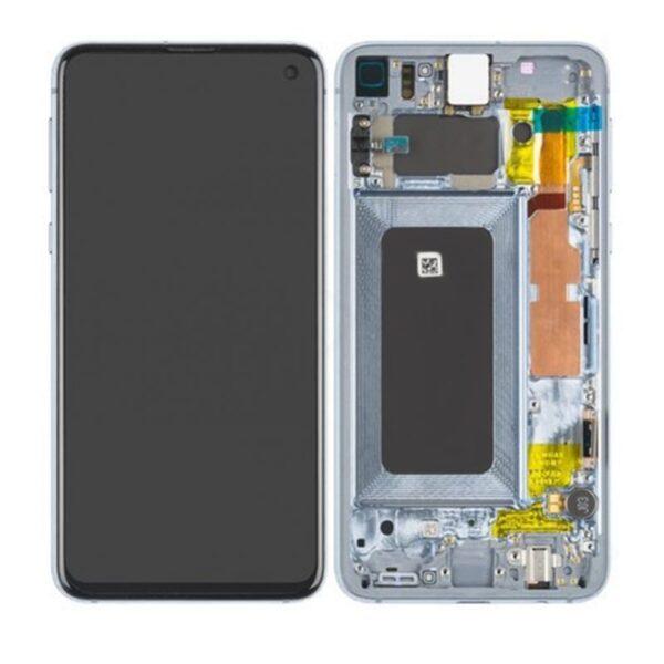 Samsung Galaxy S10E Skärm Med LCD Display - Blå