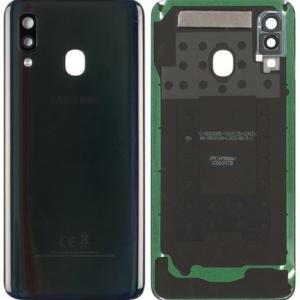 Samsung Galaxy A40 Baksida/Batterilucka - Svart