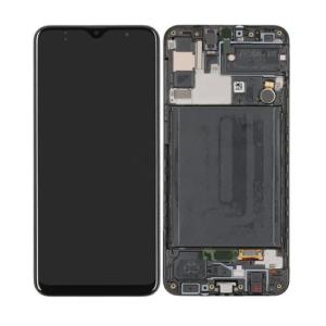 Samsung Galaxy A30 Skärm Med LCD Display - Svart