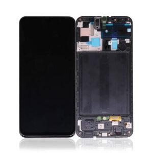 Samsung Galaxy A50 Skärm Med LCD Display - Svart