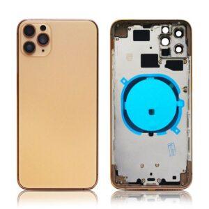 iPhone 11 Pro Baksida Komplett Med Ram - Guld