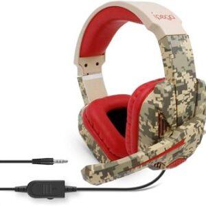 iPega Pg-R005 Gaming Headset Med Mikrofone - Röd Kamouflage