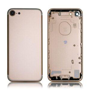 iPhone 7 Baksida Komplett Med Ram - Rose Guld
