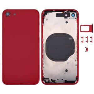 iPhone 8 Baksida Komplett Med Ram - Röd