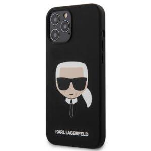 Karl Lagerfeld Head Silicone Cover för iPhone 12 Pro Max - Svart
