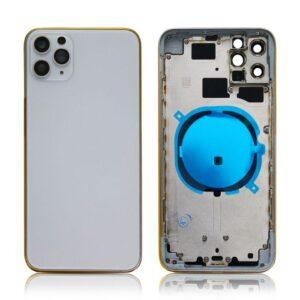 iPhone 11 Pro Baksida Komplett Med Ram - Silver