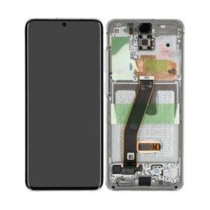 Samsung Galaxy S20 Skärm Med LCD Display - Vit