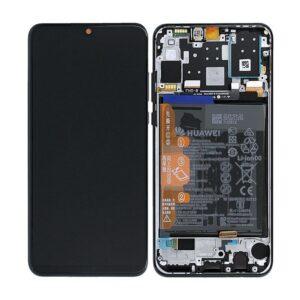 Huawei P30 Lite Skärm Med LCD-Display - Svart Inkl. Batteri