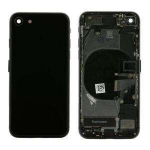 iPhone 8 Baksida Komplett Med Smådelar - Svart