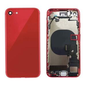 iPhone 8 Baksida Komplett Med Smådelar - Röd