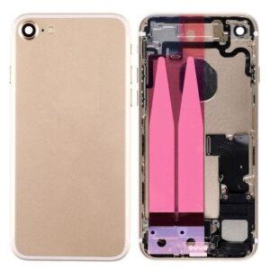 iPhone 7 Baksida Komplett Med Smådelar - Guld