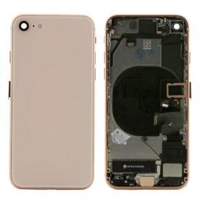 iPhone 8 Baksida Komplett Med Smådelar - Guld