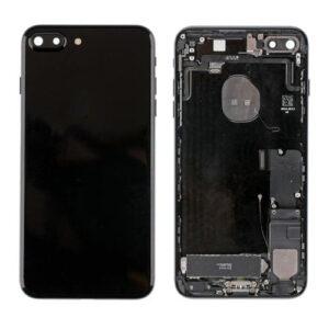 iPhone 7 Plus Baksida Komplett Med Smådelar - Jet Svart