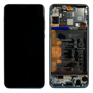 Huawei P30 Lite Skärm Med LCD-Display - Blå Inkl. Batteri