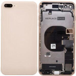 iPhone 8 Plus Baksida Komplett Med Smådelar – Guld