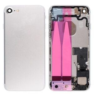 iPhone 7 Baksida Komplett Med Smådelar - Silver