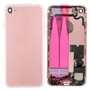 iPhone 7 Baksida Komplett Med Smådelar - Rose Guld
