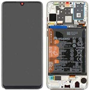 Huawei P30 Lite Skärm Med LCD-Display - Vit Inkl. Batteri