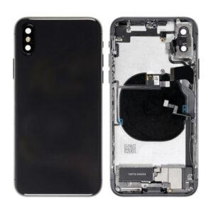 iPhone XS Max Baksida Komplett med Smådelar - Grå