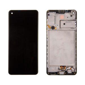 Samsung Galaxy A21S Skärm Med LCD Display - Svart